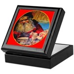 Season's Greetings Santa Keepsake Box