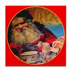 Season's Greetings Santa Tile Coaster
