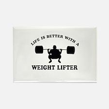 Weight Lifter Designs Rectangle Magnet