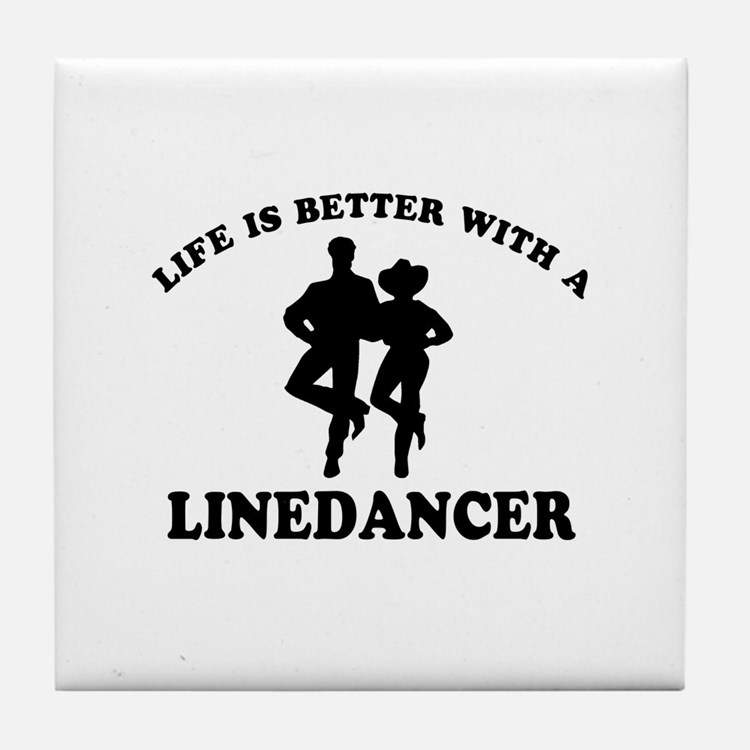 LineDancer Designs Tile Coaster