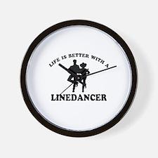 LineDancer Designs Wall Clock