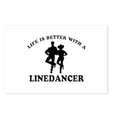 LineDancer Designs Postcards (Package of 8)