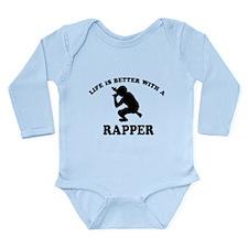Rapper Designs Long Sleeve Infant Bodysuit