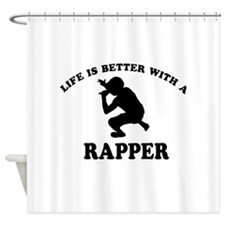 Rapper Designs Shower Curtain