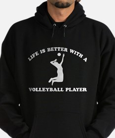 Volleyball Player Designs Hoodie