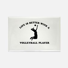 Volleyball Player Designs Rectangle Magnet