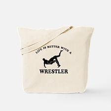 Wrestler Designs Tote Bag