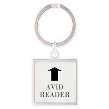 Avid Reader Square Keychain