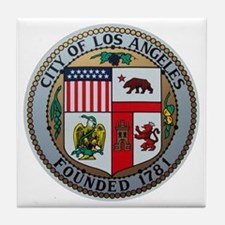 City of Los Angeles Tile Coaster
