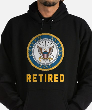 US Navy Retired Hoodie (dark)