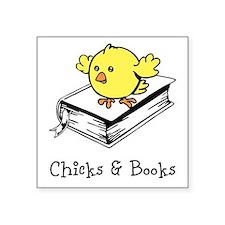 Chicks And Books Sticker