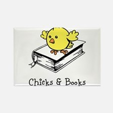 Chicks And Books Rectangle Magnet