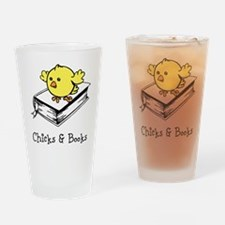 Chicks And Books Drinking Glass