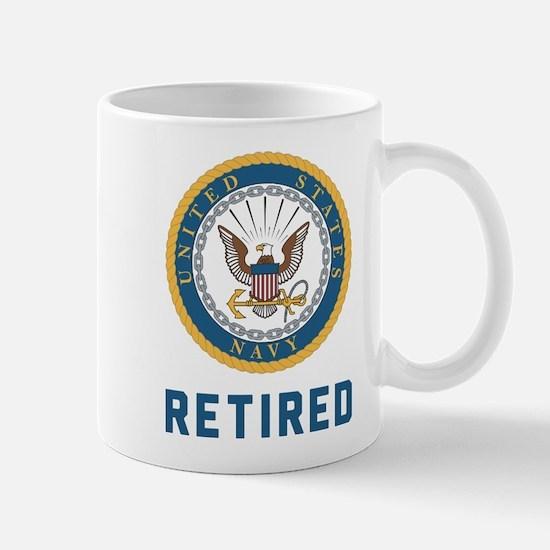 US Navy Retired Mug