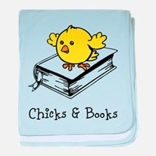 Chicks And Books baby blanket