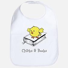 Chicks And Books Bib