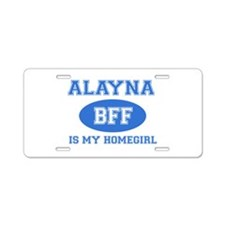 Alayna BFF designs Aluminum License Plate