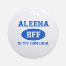 Aleena BFF designs Ornament (Round)