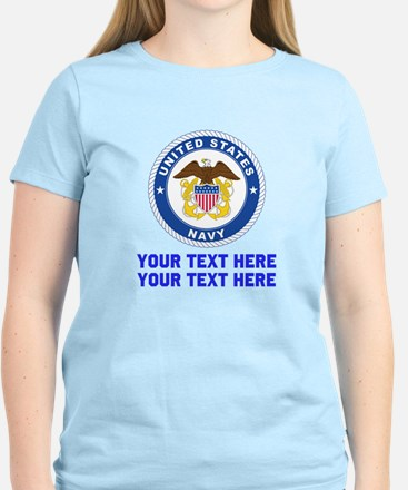 US Navy Sign Personalized Women's Light T-Shirt