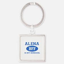 Alena BFF designs Square Keychain
