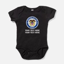 US Navy Sign Personalized Baby Bodysuit