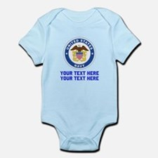 US Navy Sign Personalized Infant Bodysuit