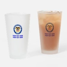 US Navy Sign Personalized Drinking Glass