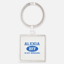 Alexia BFF designs Square Keychain