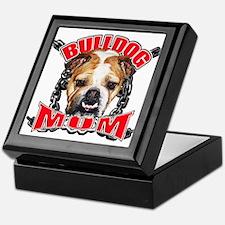 Bulldog Mom Keepsake Box