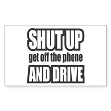 Get off the Phone & Drive! Rectangle Decal