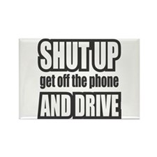 Get off the Phone & Drive! Rectangle Magnet