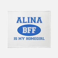 Alina BFF designs Throw Blanket