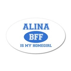 Alina BFF designs 20x12 Oval Wall Decal
