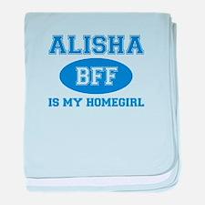 Alisha BFF designs baby blanket