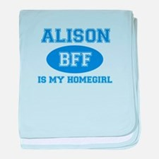 Alison BFF designs baby blanket