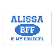Alissa BFF designs Postcards (Package of 8)