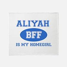 Aliyah BFF designs Throw Blanket