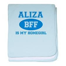 Aliza BFF designs baby blanket