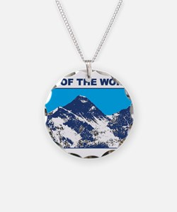 Mount Everest Printed Necklace