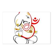 Beautiful Ganesh Postcards (Package of 8)