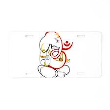 Beautiful Ganesh Aluminum License Plate