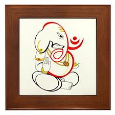 Beautiful Ganesh Framed Tile