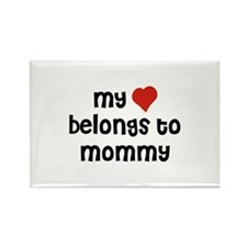 My Heart Belongs To Mommy Rectangle Magnet