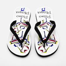 I LOVE PIANO Flip Flops