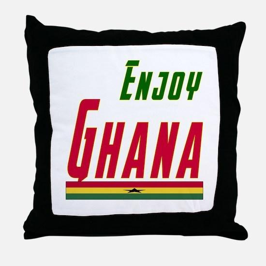 Ghana Designs Throw Pillow