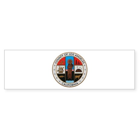LA County Seal with Cross Bumper Sticker