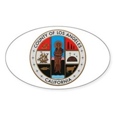 LA County Seal with Cross Oval Decal