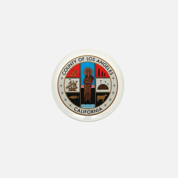 LA County Seal with Cross Mini Button