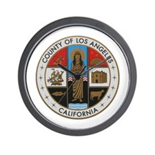 LA County Seal New Style Wall Clock