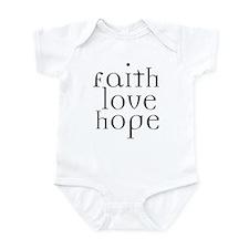 Faith Love Hope Infant Bodysuit